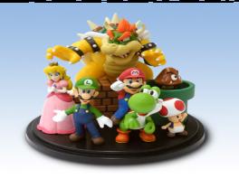 Eén van de meest kostbare items uit de catalogus is deze figurine van Mario en co.