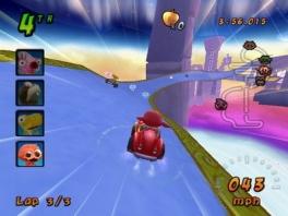 Leuk hoor, Mario, die anti-zwaartekracht in Mario  Kart 8, maar die heeft Cocoto niet nodig!