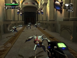 De gameplay in het spel blijft redelijk standaard: schiet op alles wat los en vast zit.