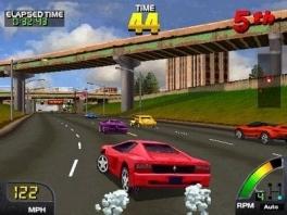 De auto's in deze game zijn niet eens 3D, maar het zijn 2d-sprites, iets wat je bij de SNES verwacht.