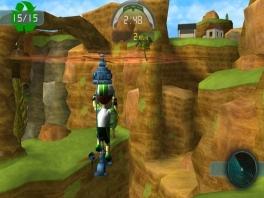 Na het fietsen kun je ook andere dingen doen in deze game, zoals vliegen...