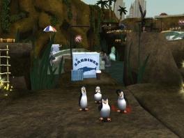 Verken als de pinguïns de dierentuin, zoek onderdelen en versla dr. Blowhole!