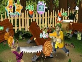 Verschillende minigames met typische mannen en vrouwen activiteiten.