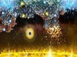 Ziet er buitenaards uit! is dat de zon die daar brandt onder aan het scherm?