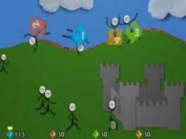 Probeer je kasteel te verdedigen tegen aanvallen van buitenaf.