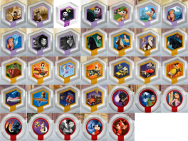 Zoveel verscillende <a href = https://www.mariowii.nl/wii_spel_info.php?Nintendo=Disney_Infinity_Power_Discs_-_Series_1>Powerdiscs</a>. Welke zal ik eens gaan gebruiken?