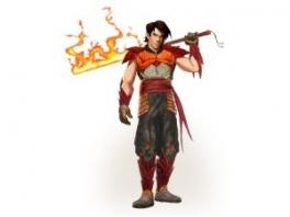 """Held van het verhaal is Dal, die op zoek is naar de zes delen van de """"Dragon Blade""""."""