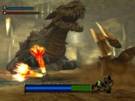 Vecht met een brandend zwaard tegen vuurspugende draken.