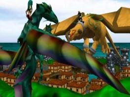 Gevecht tussen 2 draken in de lucht!