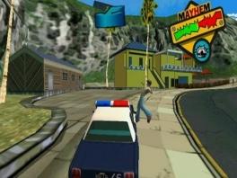 Zijn dat bergen op de achtergrond? Slechte graphics, op de N64 waren ze beter!