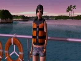 Je kunt kiezen of je een man of een vrouw wil zijn waarmee je gaat zwemmen.