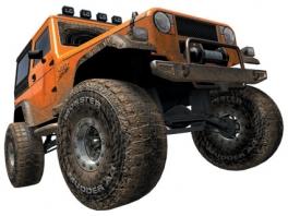 Met je truck moet je zoveel mogelijk punten halen door trucs te doen!