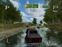 Zorg dat je motor niet te warm wordt! Rijd door het water om het wat af te koelen.