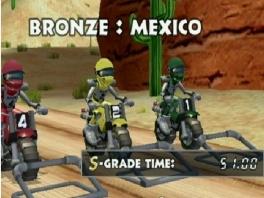 Speel als 3D-versies van de gekleurde <a href = https://www.mario64.nl/Nintendo64_Excitebike_64.htm target = _blank>Excitebike</a>-racers van de NES.
