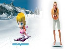 Maak gebruik van het Wii Balance Board om te skiëen.