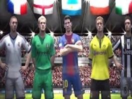 Hier zie je een paar sterspelers.  Natuurlijk staat Messi in het midden omdat hij de beste is!