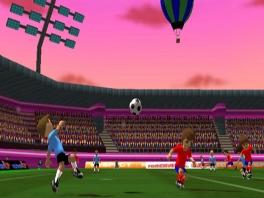 Ook je eigen Mii kan in Football Up profvoetballer (proberen te) zijn.