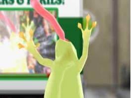 Speel als Frogger, de kikker die het niet kan laten om elke straat die hij ziet over te steken!