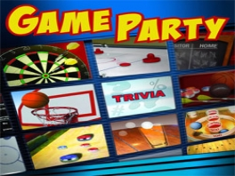 De spelletjes van Game Party, met bijvoorbeeld, darten, basketbal schieten en airhockey.