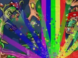Ook zijn er speciale wapens zoals de vernietigende regenboog bom.