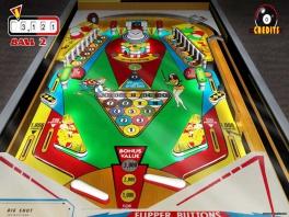 In deze pinball game is een goede variatie in machines!