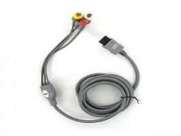 <a href = https://www.mariowii.nl/wii_spel_info.php?Nintendo=Hama_AV_Kabel>Hama AV Kabel</a> heeft 3 uitgangen: geel (Beeld), rood (Geluid) en wit (Geluid).