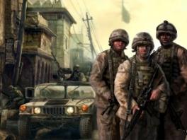 Je speelt als een groep Amerikaanse mariniers.