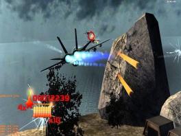 Hyper Fighters is een railshooter, je probeert zoveel mogelijk te knallen!