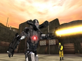 Behalve Iron Man is ook War Machine van de partij!