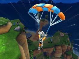 Spannend om aan zon parachute te hangen! Hopelijk kom ik veilig neer...