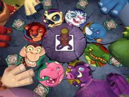 Okee, nu zijn de kaarten ineens rond en staan er dierengezichten op... snapt iemand dit spel?