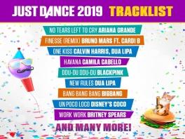 Just Dance 2019: Afbeelding met speelbare characters