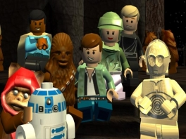 Speel met verschillende personages uit alle 6 Star Wars flms.