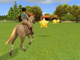 In dit spel leer je hoe je moet paardrijden.