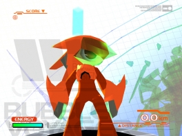 Dit is de hoofdpersoon van het minispelletje: Bubble Voyager.
