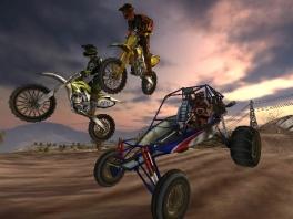 Er zitten naast motoren ook buggy's in MX vs ATV Untamed.