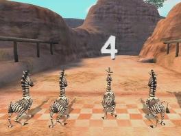 In de game leer je ook tellen: dit zijn inderdaad 4 zebra's!