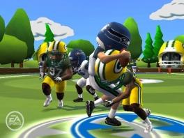 Speel als alle teams uit de NFL in verschillende modi, zoals deze, met kleine grappige spelertjes!