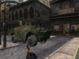 Waarschuwing: In je eentje met een <a href = https://www.mariowii.nl/wii_spel_info.php?Nintendo=Qware_Pistool_and_Shotgun>geweer</a> een tank te lijf gaan is meestal geen goed idee.