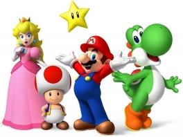 Mario, Toad, Peach, <a href = https://www.mario64.nl/Nintendo64_Yoshis_Story.htm target = _blank>Yoshi</a> en vele anderen; allemaal zijn ze klaar voor een nieuw feestje!