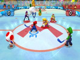 Het mario tegen wario team ijshockey.