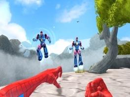 Gebruik de krachten van vijf helden, zoals <a href = https://www.mariocube.nl/GameCube_Spelinfo.php?Nintendo=Spider_Man target = _blank>Spiderman</a>'s spinnenpowers, om te overleven.