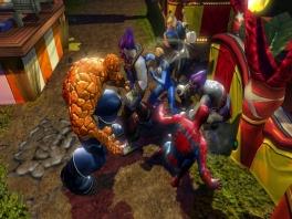 Speel de belangrijkste karakters: Captain America, Thor, <a href = https://www.mariocube.nl/GameCube_Spelinfo.php?Nintendo=Spider_Man>Spider-Man</a> en Wolverine.