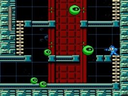 Gravity Man zijn stage. Hij wacht op je aan het eind van het level!