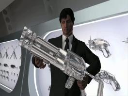 Speel als geheim agent en knal aliens neer zoals in de film.