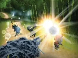 Dit spel is voorzien van mooie graphics. Zo ook deze energie-uitbarsting.