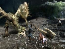 Je hebt verschillende wapens in monsterhunter 3: zwaarden, bijlen bogen en zelfs rocket launchers!