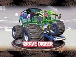 Dit is een van de bekendste Monster Trucks: Grave Digger! Hier kun je ook mee racen.