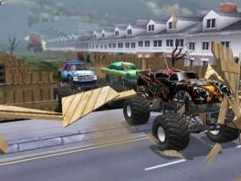 Met deze monster trucks scheur je door de straten of toch de achtertuinen van de stad.