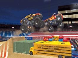 Niets voor niets dat deze trucks monster-trucks worden genoemd. Ze zijn MEGA!